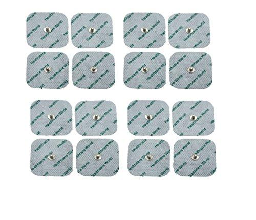 TENS Elektroden Mit Druckknopf Satz von 16 Für TENS EMS Geräten Sanitas und Beurer