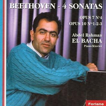 Ludwig Van Beethoven : Quatre sonates - Op. 7 No. 4 - Op. 10 No. 1, 2 & 3