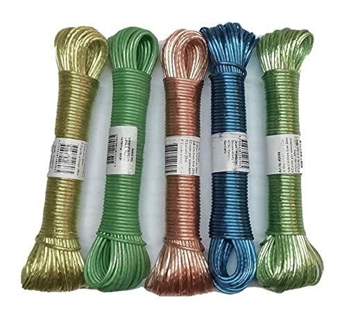 Cuerda para tender 20m con inserto alambre de acero PVC 2,8mm, varios colores
