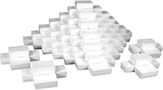 White Jewelry Gift Boxes Cotton Filled #21 (Case of 100)