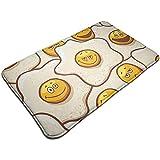 Cy-ril Alfombrilla Antideslizante de Piso de expresión de Huevos fritos Alfombra para baño, Cocina, Entrada, Pasillo, Oficina