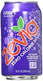 Zevia Zero Calorie Soda, Grape, 12 Fl Oz (pack of 6)