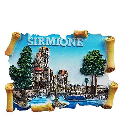Sirmione Lake Garda Italien, 3D-Kühlschrankmagnet, Reise-Souvenir-Geschenk, Dekoration für Zuhause und Küche, magnetischer Aufkleber