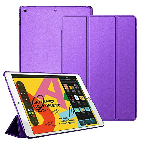 For Apple iPad Air (1st Generation) A1474 A1475 A1476 Smart MagneticStand Case with Automatic Wake/Sleep (Purple)