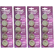 Lopacell CR2450 20 Pack Lithium Coin 3 Volt Batteries