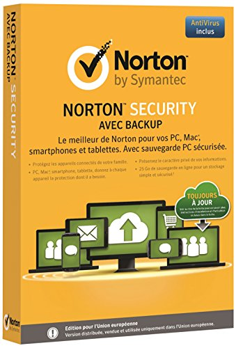 Norton Security avec Backup (10 appareils, 1 an)