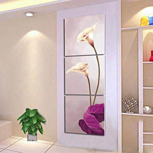 Zita and Zetan Modern Living Room Pittura Decorativa Tripla Verticale Sezione Pittura Senza Telaio (Dimensioni : 40 * 40 * 2.5cm)