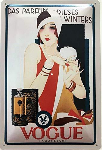 Deko7 blikken bord 30 x 20 cm Het parfum Dit winters Vogue