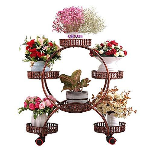 LIU UK Flower Stand Estante de múltiples Capas de la Planta del Metal del Hierro labrado del Estante...