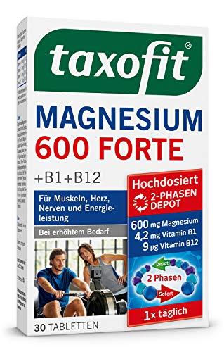 taxofit® Magnesium 600 FORTE Depot Tabletten für Muskeln, Herz, Nerven und Energieleistung (30 Tabletten)