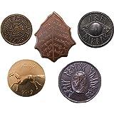 The Shire Post SPMI-ME-0201-M5, El Señor de los Anillos Set 5 Monedas Tierra Media, Multicolor , color/modelo surtido