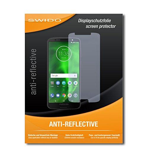 SWIDO Schutzfolie für Motorola Moto G6 [2 Stück] Anti-Reflex MATT Entspiegelnd, Hoher Festigkeitgrad, Schutz vor Kratzer/Bildschirmschutz, Bildschirmschutzfolie, Panzerglas-Folie