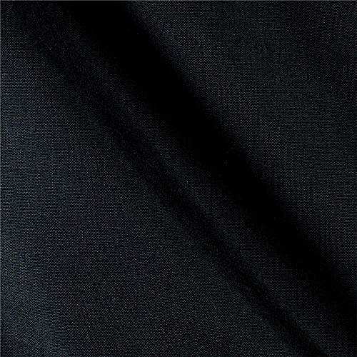 Ben Textiles 60'' Poly Cotton Broadcloth Fabric, Black, Fabric by the yard