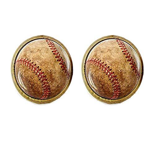 Baseball-Ohrring, Baseball-Ohrring, Baseball-Sport, Schmuck, Baseball-Spieler, Team-Mama Baseball-Geschenk, Baseball-Fan Geschenk