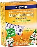 3er-SET Bio Manukahonig Liquid Sticks, 12 Sticks, MGO 100+active 96g Hoyer