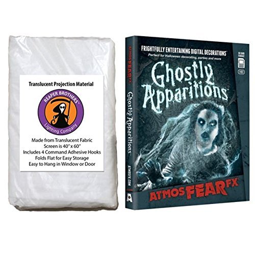 Kringle Bros AtmosFearFx Ghostly Apparitions DVD with Reaper Brothers Rear Projection Screen