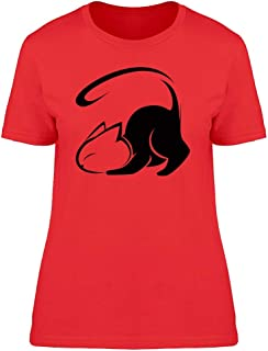 Silhouette Of Pouncing Cat Tee Women's -Image by Shutterstock