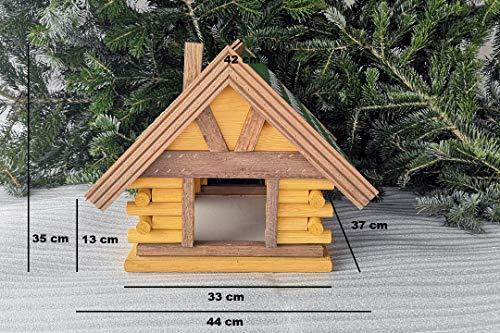 crash-marek Vogelhaus, Futterhaus, Vogelhäuschen, Bitumendach, Pappe, Holz, Mini Dachschindeln, wetterfest, Vogelvilla