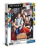 Clementoni Friends adulti 1000 pezzi, puzzle serie Netflix, Made in Italy, Multicolore, 39587