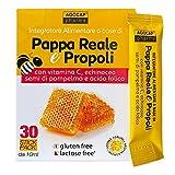 Pappa Reale Fresca e Propoli, 30 stick pack, al piacevole gusto agrumato | con Vitamina C, Echinacea, Semi di Pompelmo ed Acido Folico | Agocap, sistema immunitario