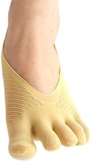 DELIMALI Women 5 Pair Toe Socks Orthopedic Compression Cotton Socks Invisible Socks No Show Socks Non Slip Five Finger Soc...