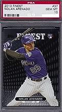 2013 Topps Finest Nolan Arenado Colorado Rockies Baseball Rookie Card Graded PSA 10 GEM MINT #37