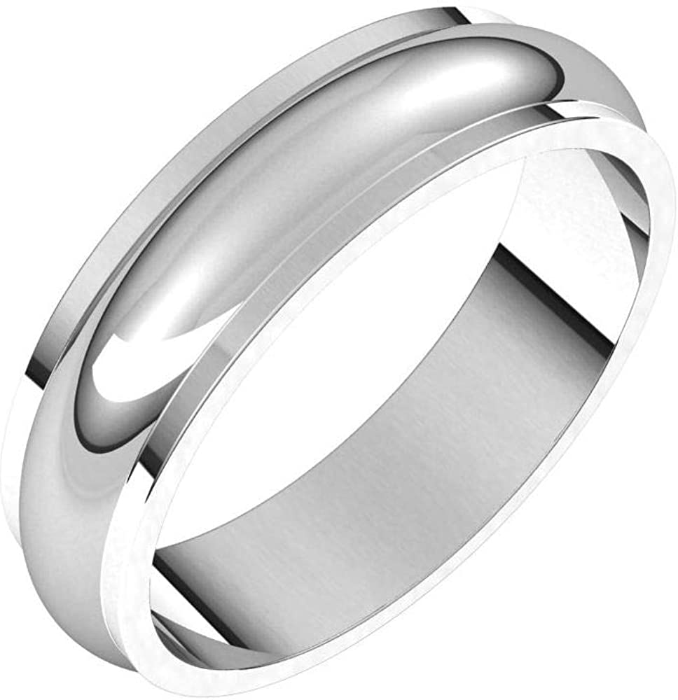 Domed Wedding Band Beveled Edge Solid 925 1 Silver Tulsa Mall Real Sterling Popular product