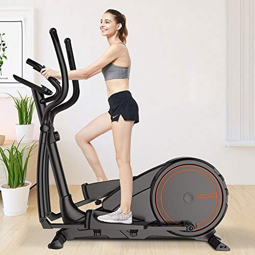 AORISSE Bicicleta Elíptica, Equipo Profesional De Fitness De Entrenador Elíptico De Control Magnetorresistivo Comercial Que Puede Ajustar 16 Niveles De Resistencia Magnética, con Pantalla LCD