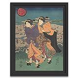 Printed Paintings Marco Americano (30x38cm): Utagawa Kunisada - Evento Anual - el Tercer Mes (Ukiyo nenjū gyōji: Yayoi)
