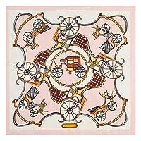 ZSCZQ 60cm * 60cm高級ブランドの女性ツイルシルクスカーフ馬の手紙バンダナヘッドバンドプリントスカーフ新しいファッション小さな正方形のスカーフ3