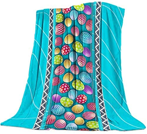 Manta de franela de forro polar cálida reversible suave manta colcha foto accesorios para dormitorio sala de estar, sofá sofá 128 x 152 cm, diseño geométrico azul