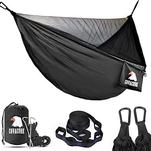 COVACURE Camping Hammock with Mosquito Net - Ultra-lightweight Outdoor Travel Hammocks for Camping Hiking Backpacking - 772 LBS Capacity Upgrade Version