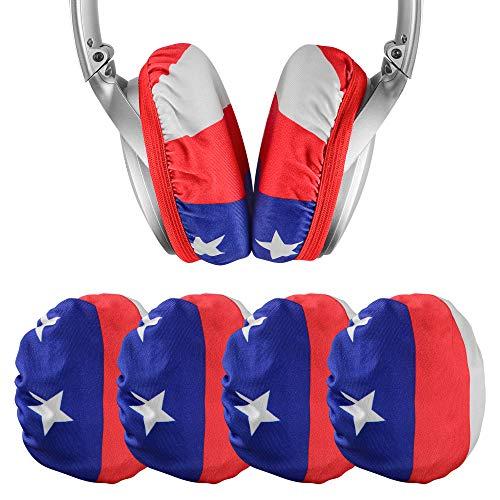 Geekria 2 pares Fundas para auriculares de tela flexible para auriculares sanitarios elásticos y lavables, se adapta a auriculares de 3 a 4,3 pulgadas, como S0NY WH-1000XM3, WH-XB900N