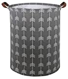 CLOCOR Large Round Storage Baskets,Collapsible Storage Bin, Dirty Laundry Hamper Baskets for Baby Boys and Girls, Office, Bedroom, Toys Nursery Kids Clothes Gift Basket (Arrows)