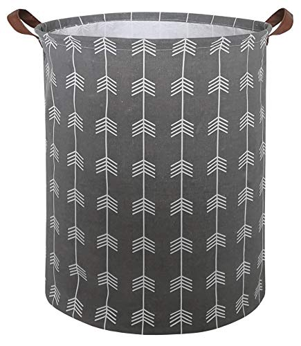 CLOCOR Collapsible Round Storage Bin/Large Storage Basket/Clothes Laundry Hamper/Toy Storage Bin Arrows