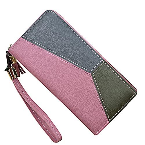 SKYXIU Monedero simple de la tarjeta de la cartera de la moda de la cartera impermeable de cuero de la PU monedero corto monedero embrague, b, 1,