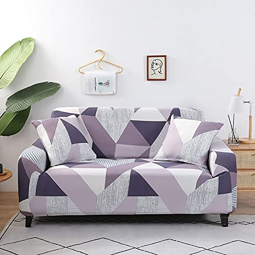WXQY Fundas de Tela Escocesa elásticas Antideslizantes para sofá Funda de sofá para Mascotas Esquina en Forma de L Funda de sofá Antideslizante A10 3 plazas