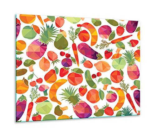 QTA | Placa protectora de 60 x 52 cm para vitrocerámica, 1 pieza, universal, para cocinas de inducción, protección contra salpicaduras, tabla de cortar frutas