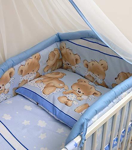 Parure de lit 3 pièces pour lit de bébé 140 x 70 cm Housse de couette Taie d'oreiller