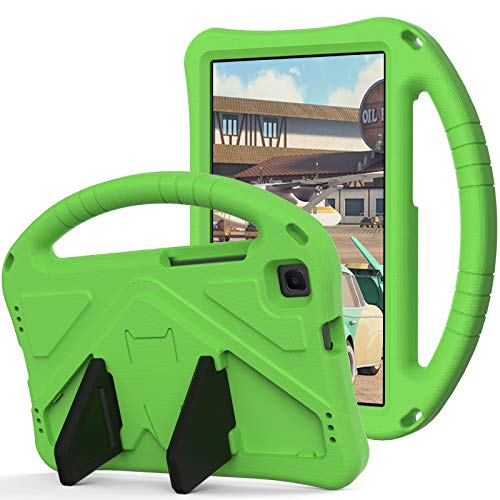 WHWOLF Funda Niños para Lenovo Tab M8 (TB-8705/ TB-8505) Tableta Carcasa con Soporte de Manija Protectora de Espuma EVA Prueba de Golpes Resistente Silicona Ligera -Verde