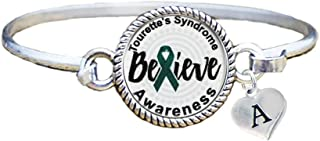 Bracelet Custom Tourettes Syndrome Awareness Believe Silver Bracelet Jewelry Initial