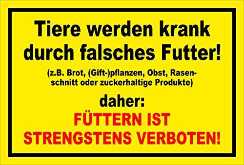Melis Folienwerkstatt Schild - Tiere Werden krank - 15x10cm | 3mm Hartschaum – S00039-016-C -20 Varianten
