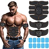 Muscle Toner Abdominal Toning Belt EMS ABS Toner Body Muscle Trainer Wireless Portable Unisex Fitness Training Gear for Abdomen/Arm/Leg Training Home Office Exercise (Ab Stimulator Abs Black)