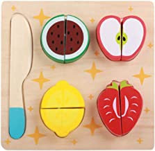 TOYMYTOY 1 Set Wooden Puzzle Play Foods Wooden Fruits Pretend Play Set Wooden Early Education Toy for Kids Children
