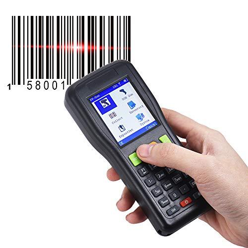 ZUKN Portable Intelligent Scanner De Code À Barres sans Fil Et Filaire Portable Collecteur De Données D'inventaire Lecteur De Codes À Barres PDT 1D Convient pour Supermarché Entrepôt