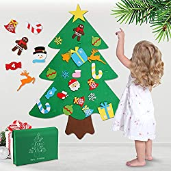 Felt Christmas Tree Advent Calendar for Toddlers. Cute ornaments included. No candy.