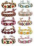 FIBO STEEL Friendship Bracelets for Men Women Handmade Boho Woven Strand Thread for Hair Ponytail