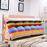 HAOLY <span class='highlight'>Stripe</span> <span class='highlight'>bolster</span> <span class='highlight'>triangular</span> <span class='highlight'>large</span> <span class='highlight'>wedge</span> pillow,Headboard reading backrest,Cushion for sofa bed,Day bed upholstered cushions double tatami pillow,Long pillow cushions-A 90x20x50cm(35x8x20)
