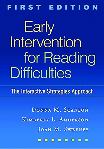 Early Intervention for Reading Difficulties, First...