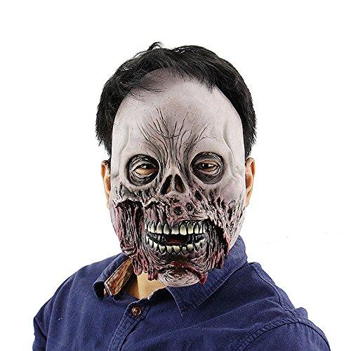 HBWJSH Halloween Spukhaus Horror Clown Maske Schamane Room Escape Live-Auftritte beängstigend Kleid Kappen